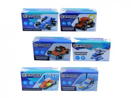 Конструктор пластик 22-29 дет 6+ 6 дизайнов игроленд