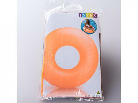 Круг для плавания детский 91см intex цвет инея от 9 лет