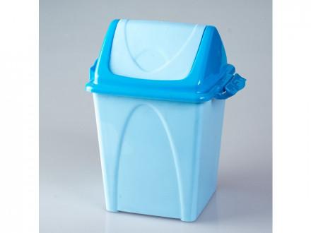 Ведро пластиковое для мусора 10,5л премиум голубое т165 (шт.) (шт.)