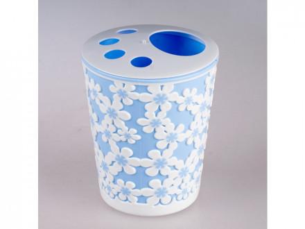 Подставка для зубных щеток дольче вита голубо белый