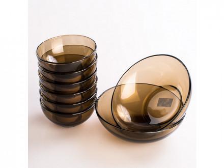 Набор салатников стекло дымчатое 7 предметов basilico