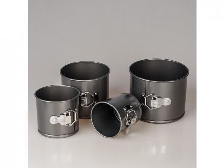 Форма для выпечки металлический разъем набор 4шт кулич