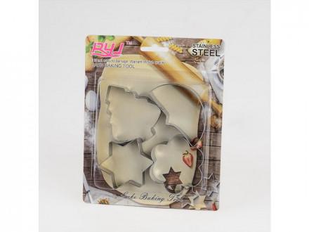 Форма для выпечки печенья металлический 4шт