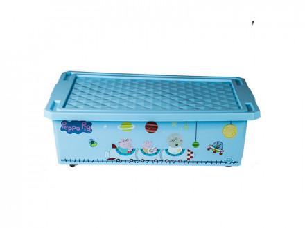 Ящик для хранения игрушек обучайка свинка пеппа 30л гол