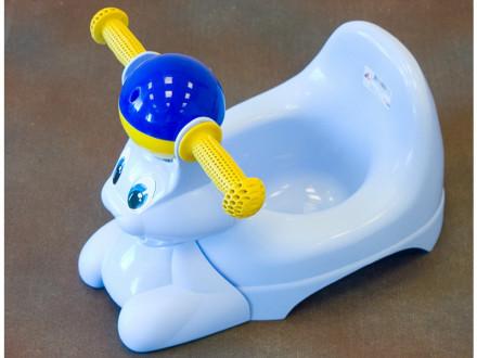 Горшок детский с игр зайчик голуб пастель