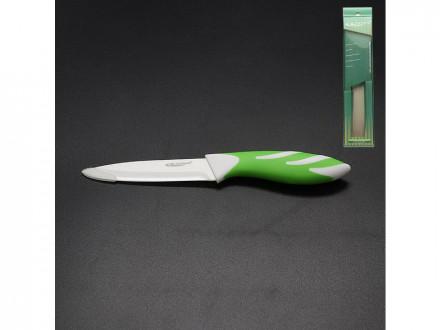 Нож керамический 10,0см бело зеленый