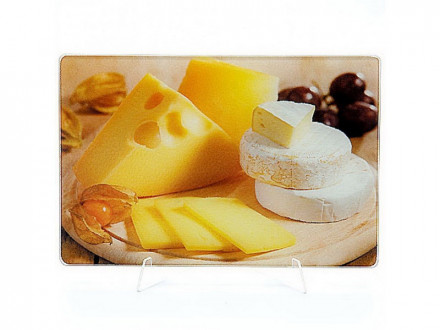 Доска разделочная стекло 20х30см сыр