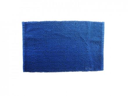 Коврик для ванной Пузыри 50х80см, хлопок, б/п, синий