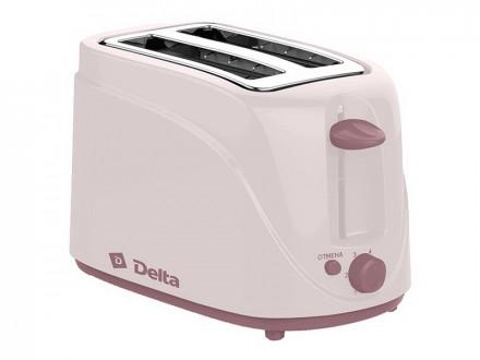Тостер DELTA DL-080 бежевый