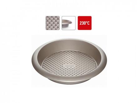 Форма для выпечки 761021 круглая большая, стальная, антипригарная, 29,5х5,5 см, NADOBA, серия RADA