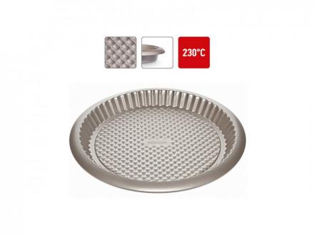 Форма круглая для пирога, 761020 стальная, антипригарная, 32х3 см, NADOBA, серия RADA