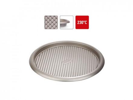 Форма круглая для пирога пиццы, 761018 стальная, антипригарная, 34х2,5 см, NADOBA, серия RADA