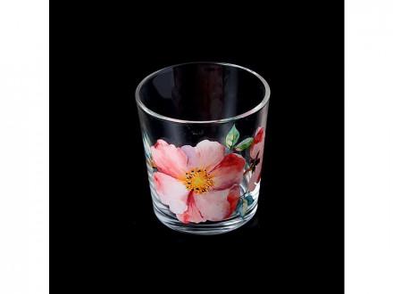 Набор стаканов 6шт 250мл ода акварельные цветы