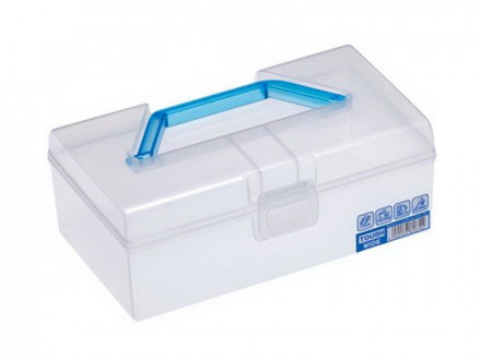 Контейнер для хранения 1,6л 224х133х86мм с ручкой голубой