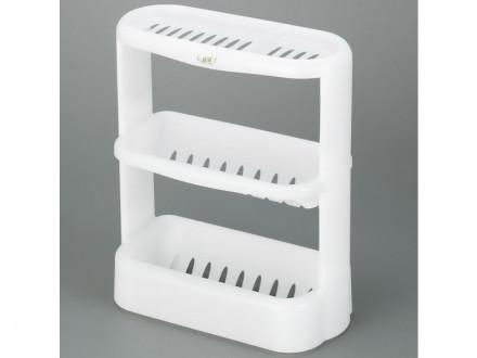 Этажерка для ванной комнаты 323х156х396мм белый