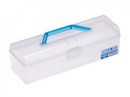 Контейнер для хранения 1,6л 299х97х88мм с ручкой голубой