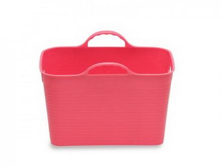 Корзина 30,0л для белья мягкая розовый