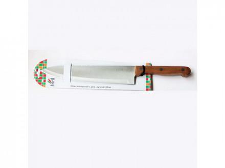 Нож кухонный 15,0см поварской с дер. ручкой