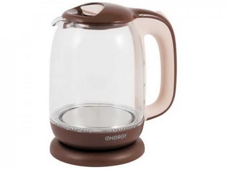 Чайник ENERGY E-281 1.7л стекло, пластик