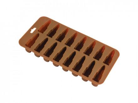 """Форма для льда """"Боеприпасы"""" IFS-Bullit, р-р 21 х 11 х 2,4 см силикон"""