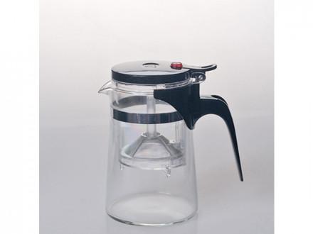 Чайник-заварник стекло со сливом 500мл sd-500a упаковка 16