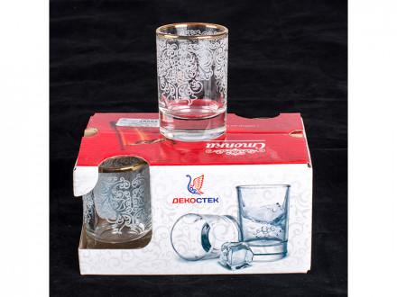 Набор стаканов 6шт лель 50мл арт.1022-гз  боярский  гравировка, отводка золотом в6-2