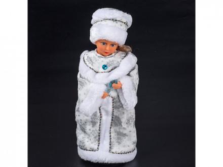 Снегурочка 40см  поет на русском, танцует  3016-53ab