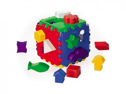 РЫЖИЙ КОТ Логический куб большой, пластик, 12х12х12см