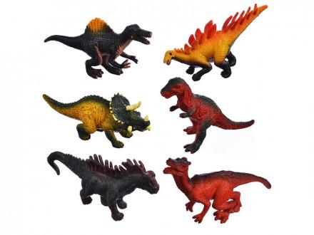 "Набор фигурок ""Динозавры"" ПВХ, 32,5х13,2х4см, 4 вида"